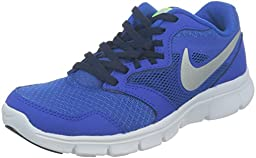 Nike Boy\'s Flex Experience 3 Athletic Shoes (4.5 Big Kid M US, Hyper Cobalt/Obsidian/Volt/Metallic Silver)