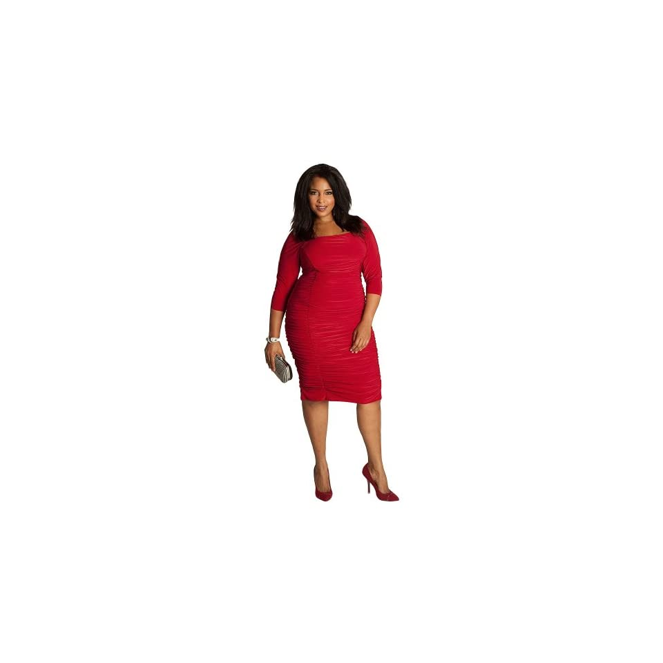 9eb406e58ad IGIGI Womens Plus Size Felina Dress in Crimson on PopScreen