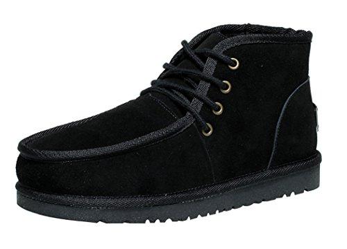 Mulinsen Men'S New Winter Fashion Classic High Velvet Leisure Boots(10D(M)Us,Black) front-413433