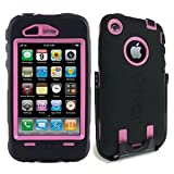 41QYx%2BzS28L. SL160  OtterBox Defender Series Case for iPhone 3G/3GS (Black/Pink)   Non Retail Packaging