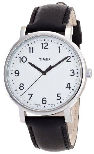 [タイメックス]TIMEX モダンイージーリーダー ホワイトダイアル ブラックレザーストラップ T2N338 メンズ 【正規輸入品】