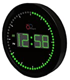 "DBTech Time Sphere - Stylish Big Digital LED Clock with Circling LED second indicator - Round Shape (10"" / Green LED)"