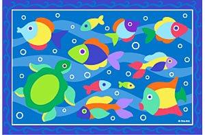Somethin' Fishy OLIVE KIDS 39 x 58 Area Rug