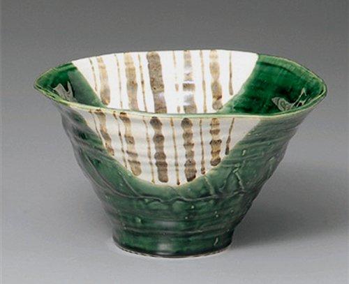 Oribe-Togusa Jiki Japanese Porcelain Set Of 5 Ramen-Bowls For Udon,Soba,Teriyaki-Bowl Made In Japan