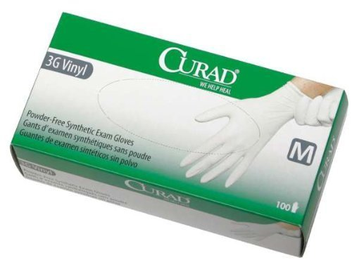 Curad 3G PF Stretch Synthetic Vinyl Exam - Extra-Small - 1,000 Per Case - Model CUR8233