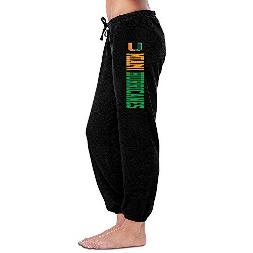 Dalymz Woman Miami Hurricanes Pant Custom Causal L Black (Miami Hurricanes Football Pants compare prices)
