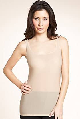 Scoop Neck Stretch Longline Vest