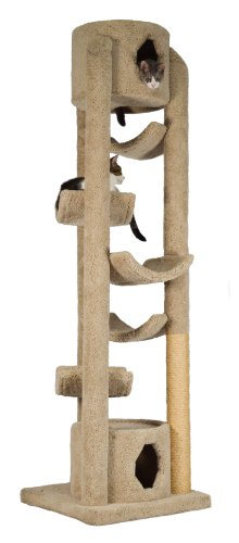 "Molly and Friends ""Pinnacle"" Extra-Large Premium Handmade Cat Tree with Sisal, Beige"