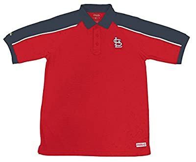MLB St. Louis Cardinals Color Blocked Polo with Lined Mini Mesh Panels