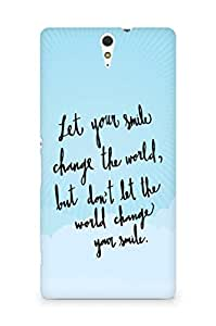 AMEZ let your smile change the world Back Cover For Sony Xperia C5