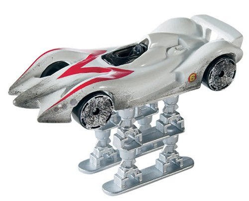 Hot Wheels Speed Racer White Race-Wrecked Mach 6 with Jump Jacks - 1