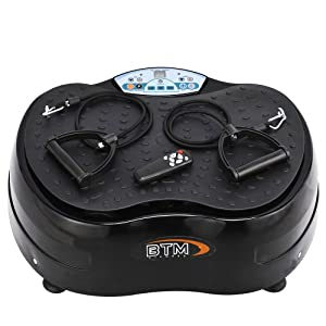 (BTM)2014 UPDATED 1000W (PEAK OUTPUT 2500W) 99speeds, 3 Programmes, 10mm Amplitude. Burn upto 350 calories in 10 minutes Max user weight 170KG Vibration OSCILLATING Plate Massager with Lifetime Motor Warranty
