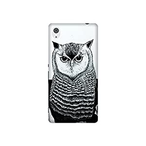 The Racoon Grip printed designer hard back mobile phone case cover for Sony Xperia M4 Aqua. (The Owl)