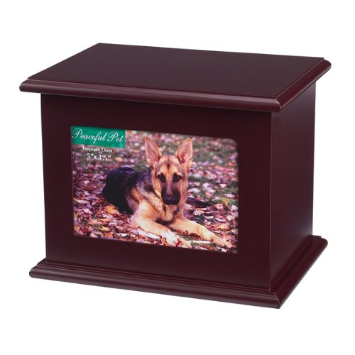 Peaceful Pet Memorial Keepsake Chest, Large, Mahogany