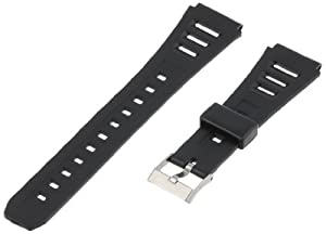 Voguestrap TX1951 Allstrap 19mm Black Regular-Length Fits Casio and Other Sport Watchband