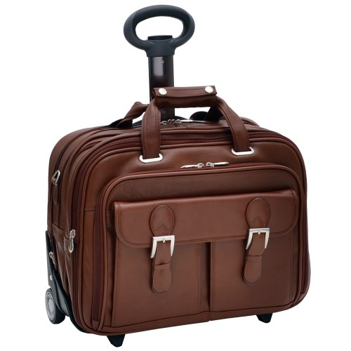 Siamod Ceresola 46004 Vernazza Collection Fly-Through Checkpoint-Friendly 17-Inch Detachable-Wheeled Laptop Case (Brown)