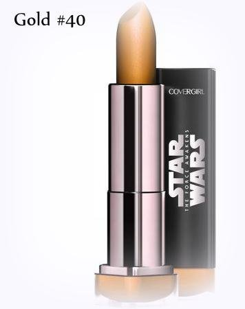 Covergirl Star Wars Limited Edition Colorlicious Lipstick # 40 GOLD (Quantity 1) (Dark Side Lipstick compare prices)