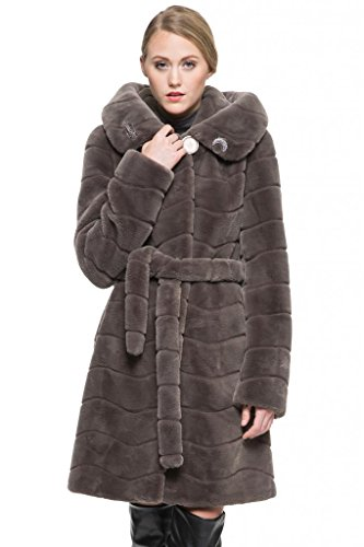adelaqueen-womens-grey-sheared-mink-faux-fur-coat-with-hood-size-s