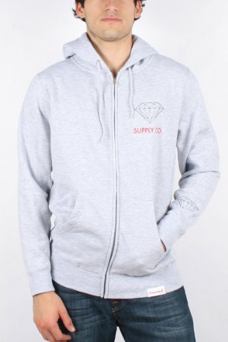 Diamond Supply - Mens Supply Co. Hoodie in Heather, Size: XX-Large, Color: Heather