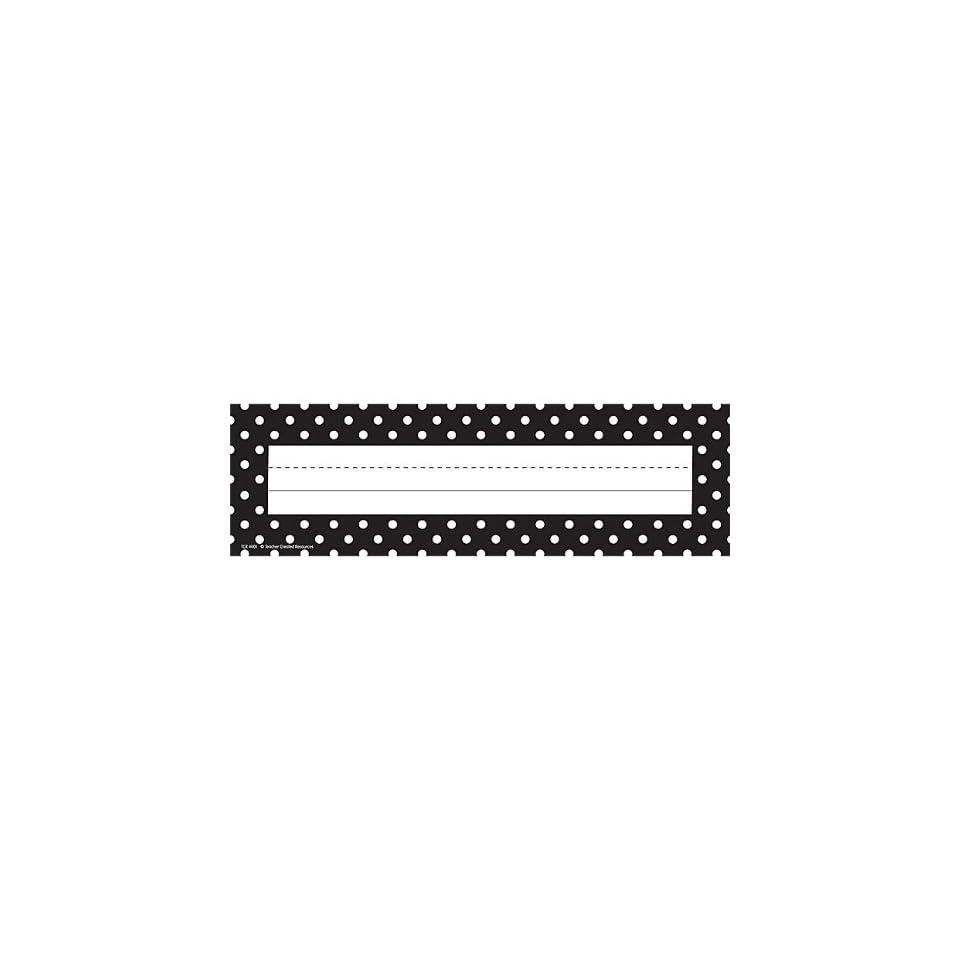 Teacher Created Resources Black Polka Dots Name Plates, Black (4001)