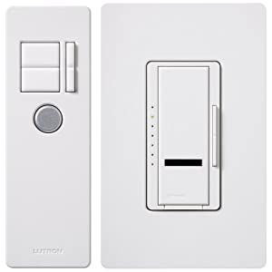 Lutron MIR-600THW-WH 600-Watt Maestro IR Dimmer with Infrared Receiver, White
