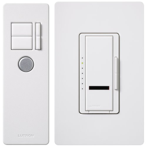 Lutron MIR-600THW-WH 600-Watt Maestro IR Dimmer with Infrared Receiver, White picture