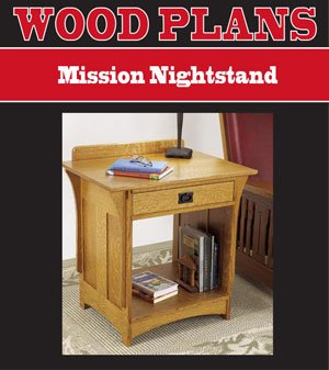 Night Stand Oak front-1068747