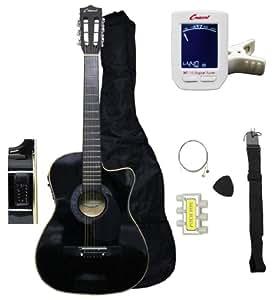 crescent ae38 bk ca 38 acoustic electric guitar starter kit black cutaway style. Black Bedroom Furniture Sets. Home Design Ideas