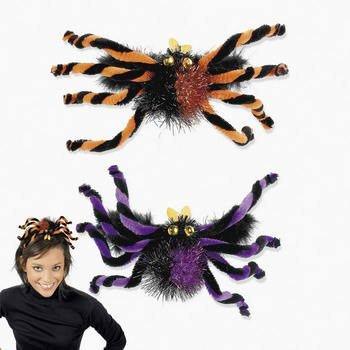 One Plastic Spider Headband (orange OR purple) - 1