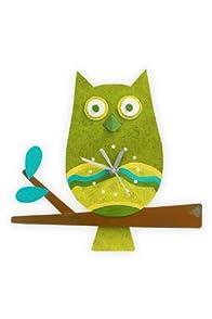 Oxidos Recycled Fair Trade Owl Clock
