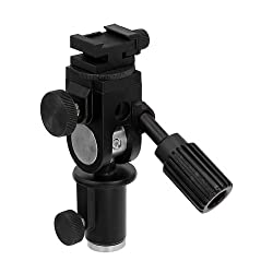 Fotodiox Ultra Heavy Duty Flash Umbrella Bracket -- With Swivel/Tilt Head, Mountable to Light stand and Tripod - fits Nissin Flash Di866, Di622, Di466, PZ400