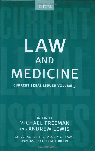 Law and Medicine: Current Legal Issues 2000 Volume 3