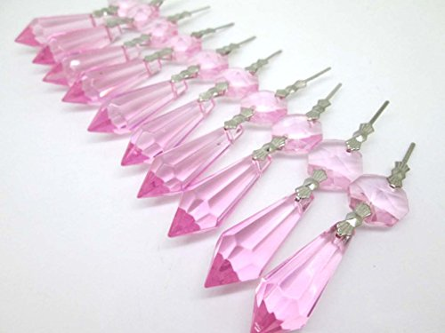 Pink Christmas Ornaments Icicle Crystal