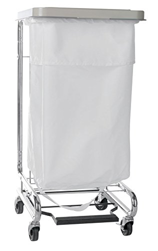 "Medline 200 Denier Nylon Flip Top With Elastic Hamper Bags - L40"" X W40"", 24 Count, White front-592274"