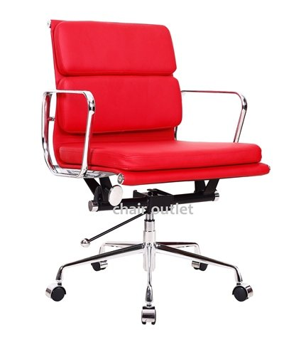 Elegant Red Charles Eames style Office Director Chair