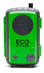 Eco Extreme 3.5mm Aux Waterproof Portable Speaker Case (Green)