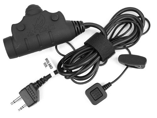 Airsoft Z Tactical U94 New Version Headset Cable & Ptt For Midland 2 Pin