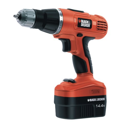 Black  &  Decker EPC148BK 14 Volt Cordless Hammer Drill (with 2 Batteries and Carry Case)