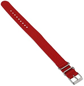 Timex T7B897 Weekender 20mm Red Nylon Slip-Thru Watch Strap