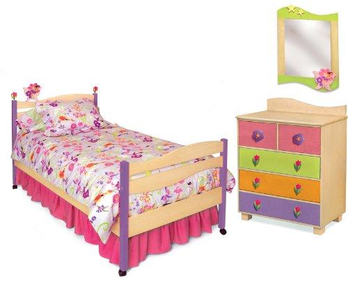 Room Magic Natural 5 Piece Bedroom Set, Garden