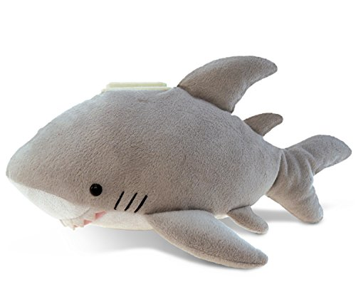 Puzzled Plush Shark Huggie Bank
