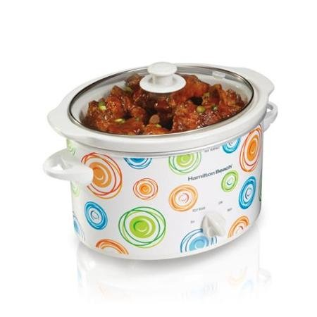 Hamilton Beach 33138 Oval Countertop Designer Slow Cooker and Dipper, 3-Quart (Designer Slow Cooker compare prices)