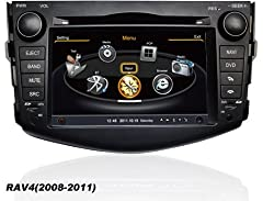 See susay for Toyota RAV4 2008 2009 2010 2011 Car DVD Player With GPS Navigation(free Map) Audio Video Stereo System with Bluetooth Hands Free, USB/SD, AUX Input, Radio(AM/FM), TV, Plug & Play Installation Details