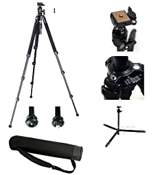 Ardinbir Professional 6662A Tripod with Ball Head & Carring Bag for Digital Camera & Video Camcorder