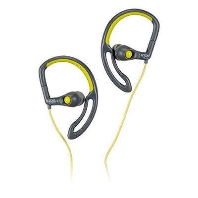 TDK Life on Record SB30 In-Ear Sport Headphones, flexible stay-in-place ear hook Grey/Chartreuse by TDK