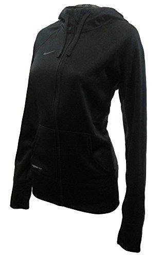 Nike KO Full-Zip 14 Womens Hoodie (Small, Black/Anthracite) (Nike Ko Full Zip Hoodie compare prices)