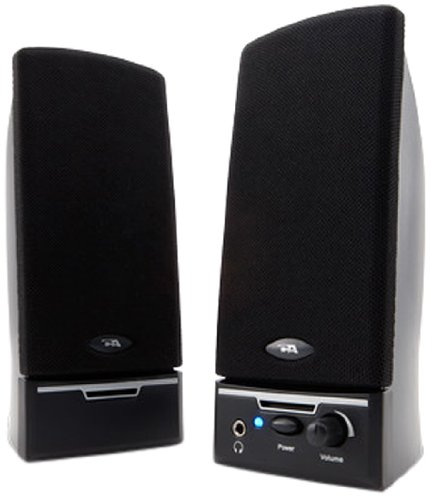 Cyber Acoustics 2.0 Amplified Speaker System Delivering Quality Audio (CA-2014)