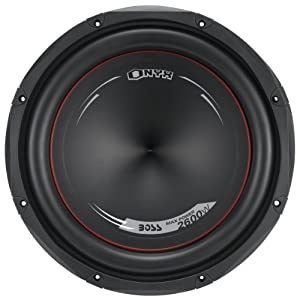 BOSS Audio NX120DVC Onyx 12-inch 2600-watt DUAL Voice Coil Subwoofer