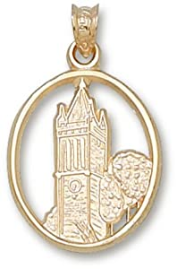 Iowa State Cyclones Campanile Pendant - 10KT Gold Jewelry by Logo Art