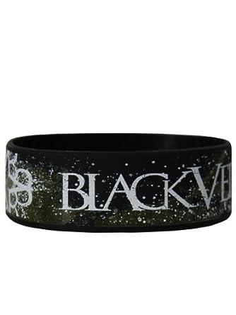 Official BLACK VEIL BRIDES Silicone Wristband SAND LOGO Splatter Gift
